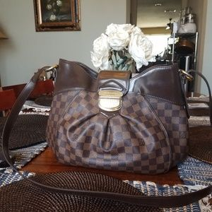 Authentic Louis Vuitton Sistena Damier Ebene Handb